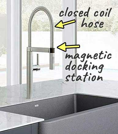 Blanco Culina Pull-Down Faucet with Closed Coil Hose