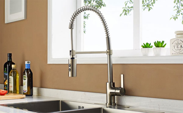 Commercial Style Enzo Rodi Faucet with Spring Spout
