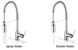 Enzo Rodi Faucet Nozzle Options (Spray and Stream)