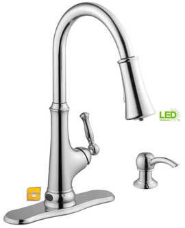 Glacier Bay LED Touch-Less Kitchen Faucet