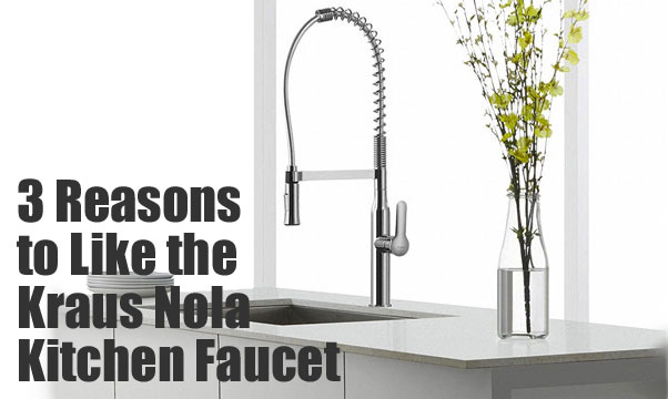 Kraus Nola Faucet, Commercial Style Tall Coiled Spring Faucet for Residential Kitchens