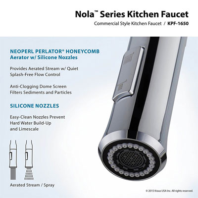 Close-Up of the Kraus Nola Faucet Spout