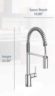 Moen Align Kitchen Faucet Dimensions