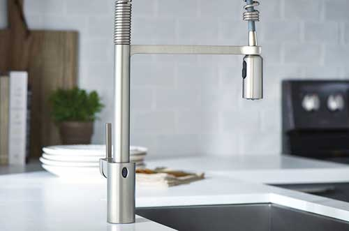 Moen Motionsense Commercial Style Spring Spout Faucet