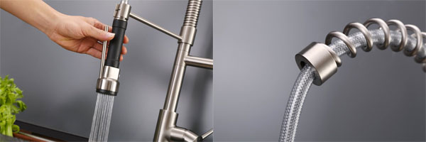 Features of the Ruvati Kitchen Faucet with Spring Spout