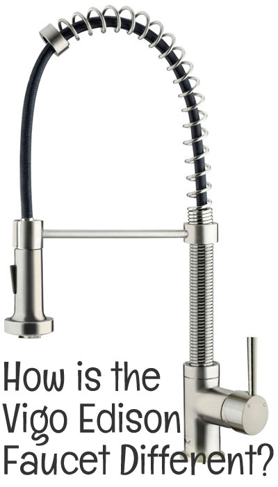How is the Vigo Edison Faucet Different from other Commercial-Style Coil Spring Faucets?