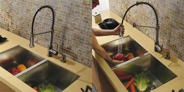 Vigo Edison Kitchen Faucet with Pre-Rinse Spout